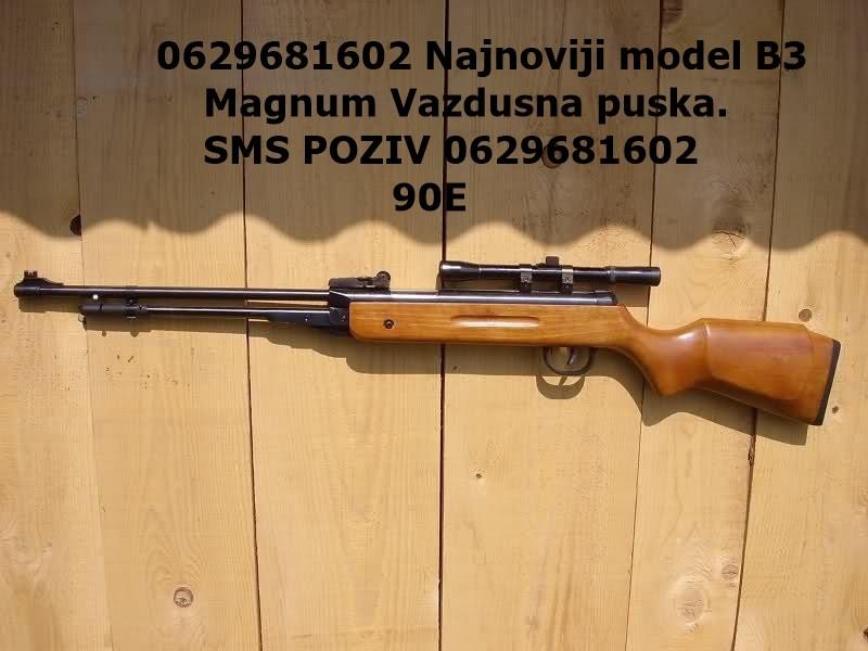 Vazdusna Puska B3 Magnum 55mm Novo Pirot Sport Lov